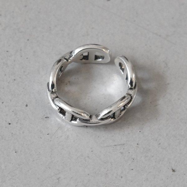 画像2: SILVER925 MARITIME CHAIN RING 7mm