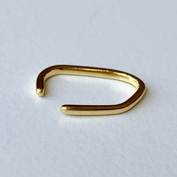 画像1: SILVER925 MINIMAL LINE EAR CUFF/GOLD